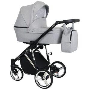 Kočárek Kunert Molto Premium dvojkombinace Stříbrný rám/šedá