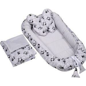 Velvet set s hnízdečkem Infantilo grey/pandas