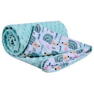 Dětská deka Medi mátová/mátoví ježci