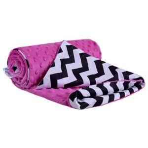 Dětská deka Medi tmavě růžová/zigzag