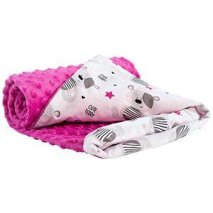 Dětská deka Medi tmavě růžová/medvídci